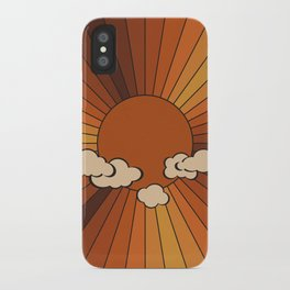 Retro Sunshine iPhone Case
