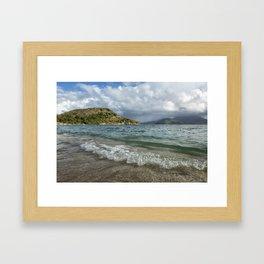 Beach at St. Kitts Framed Art Print
