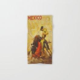 Vintage Mexico Bullfighting Travel Hand & Bath Towel