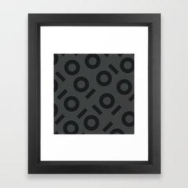 Gray Keyhole Pattern Framed Art Print