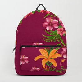 blossom yellow flower yellow summer Backpack