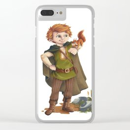 Tobias the brave nature lover Clear iPhone Case