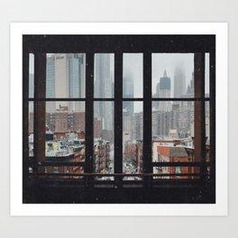 New York City Window Art Print