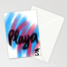 Play Time a la Playa, Beach, Pink and Blue Stationery Cards