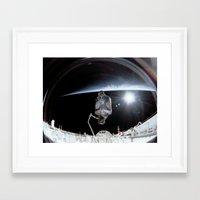 nasa Framed Art Prints featuring NASA International Space Station by Planet Prints