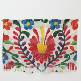 Red Mexican Flower Wall Hanging