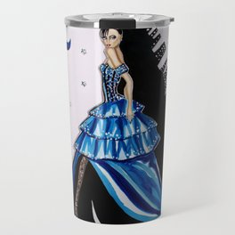MIDNIGHT IN MANHATTAN FASHION ILLUSTRATION BY JAMES THOMAS RYAN Travel Mug