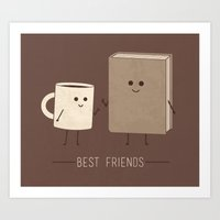 best friends Art Prints featuring Best Friends  by Teo Zirinis
