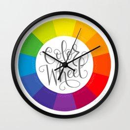 Color Wheel Wall Clock