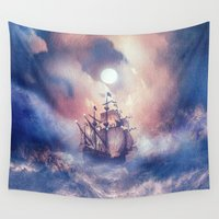 storm Wall Tapestries featuring Perfect storm.  by Viviana Gonzalez