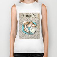 breakfast Biker Tanks featuring Breakfast by Senchy