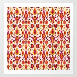 uteri_white Art Print