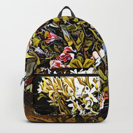 Yellow and Pink Bouquet of Flowes Backpack