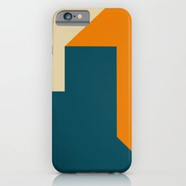 Abstract geometric in orange iPhone Case
