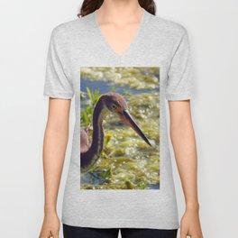 Tri-Color Heron Unisex V-Neck