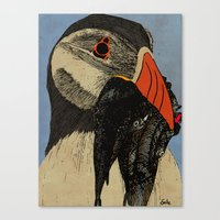 puffin Canvas Prints featuring Puffin  by EmilyGrantDesign