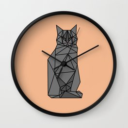 Geometric Cat Wall Clock