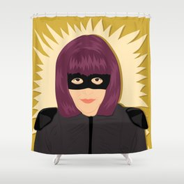 Hit Girl   Bad Ass Women Series Shower Curtain