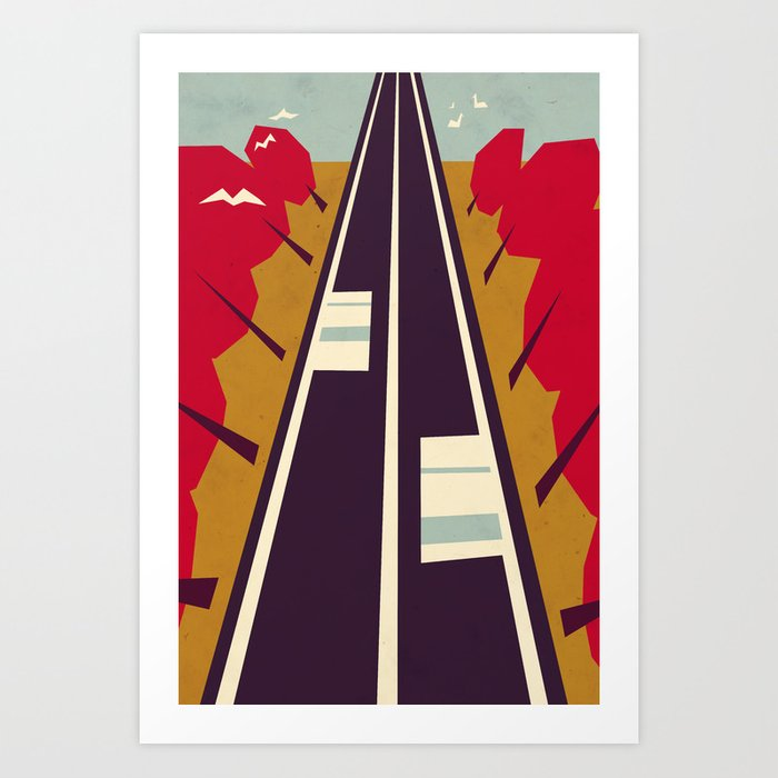 The road Art Print