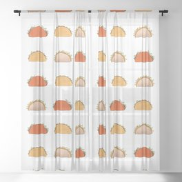 Cheesy Cronch Gordita Sheer Curtain
