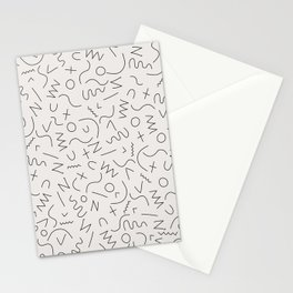 Scribbles Black on Warm Gray Stationery Cards