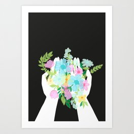 take these flowers Art Print