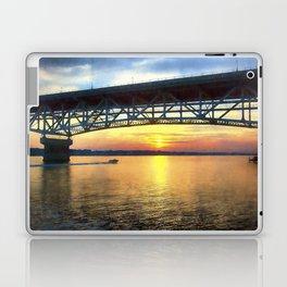 Sunset Under the Coleman Bridge Laptop & iPad Skin