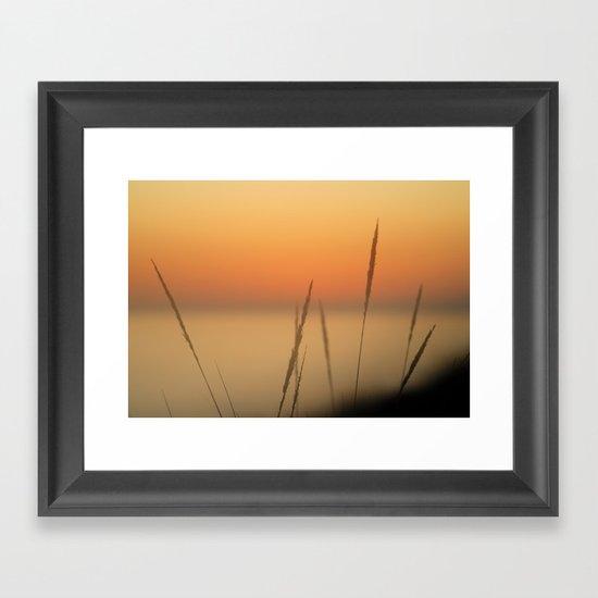 Sea spikes Framed Art Print