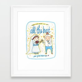 Marriage Monsters Framed Art Print