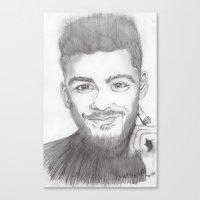 zayn Canvas Prints featuring zayn by stylin_art