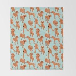 Redbone  Coonhound Pattern Throw Blanket