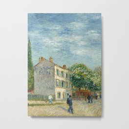 The Restaurant Rispal in Asnières Metal Print