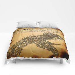 Dilophosaurus Dictionary Comforters