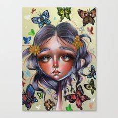 Chrysalis and Butterflies  Canvas Print