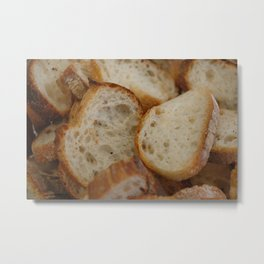 Artisan Bread Slices Metal Print