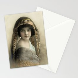 Pretty Victorian Girl Late 1800s Stationery Cards