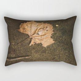 Leaf Close Up Photo Print Rectangular Pillow