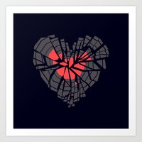 record Art Prints featuring Broken record by Yetiland
