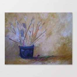 The Artists Brushes Canvas Print