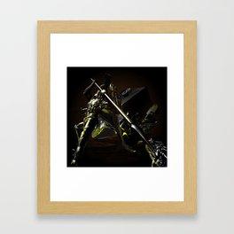 Slaying the dragon. Framed Art Print