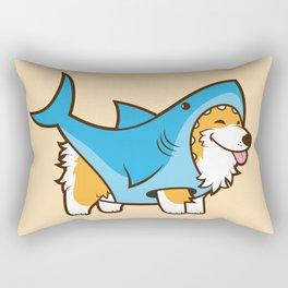 Corgi in a Shark Suit Rectangular Pillow