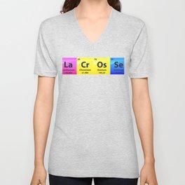 Lacrosse Periodic Table Of Elements Gift Unisex V-Neck