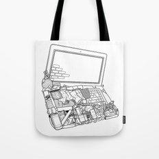 Laptop Surroundings Tote Bag