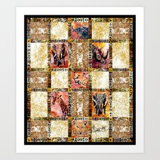 Quilted African Life. Art Print