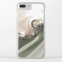ABSTRACT.MERGER Clear iPhone Case