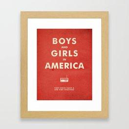Boys & Girls In America Framed Art Print