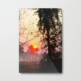 Sunset in Don Det Metal Print