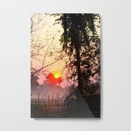 Sunset in Don Det Metal Print