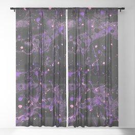 Violet Disaster Sheer Curtain