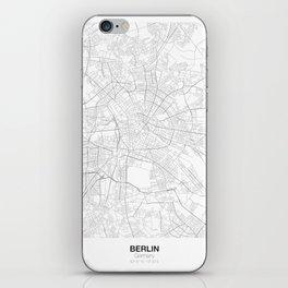 Berlin, Germany Minimalist Map iPhone Skin